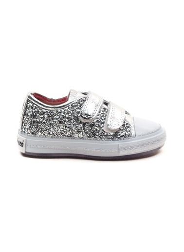 minipicco Kız Cocuk Ortopedik Destekli Spor Ayakkabı Gümüş
